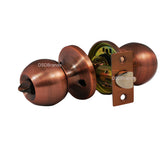 """Chronos"" KEYED ALIKE Entry Antique Copper, Door Lever Lock Set Knob Handle Set - DSD Brands"