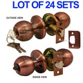 Wholesale Door Lock Sets Handle Knob Entry Passage Privacy Antique Copper - DSD Brands