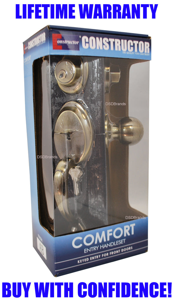 Constructor Comfort Entry Door Handle Set With Knob And