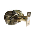 """Deadbolt"" Door Lock Set with Single Cylinder, Finish: Antique Bronze - DSD Brands"