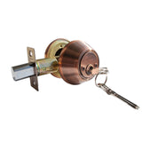 """Deadbolt"" Door Lock Set with Single Cylinder, Finish: Antique Copper - DSD Brands"