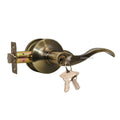 """Prelude"" Entry Lever Door Lock with Knob Handle Lockset, Antique Bronze - DSD Brands"