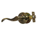 """Prelude"" Passage Lever Door Lock with Knob Handle Lockset, Antique Bronze Finish - DSD Brands"