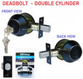 Constructor Deadbolt Oil Rubbed Bronze Double Cylinder Door Lock Set