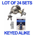CONSTRUCTOR SATIN NICKEL DOOR LOCKSETS HANDLE - WHOLESALE