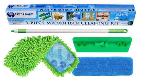 Fibermop® 3 Piece Microfiber Cleaning Kit - DSD Brands