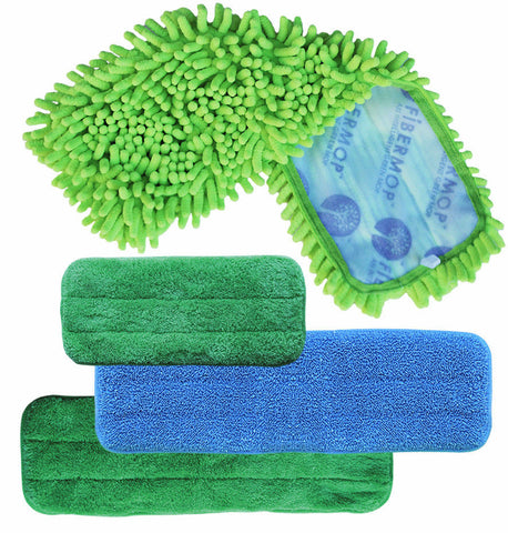 Fibermop™ 3+1 Piece Replacement Mop Set - DSD Brands