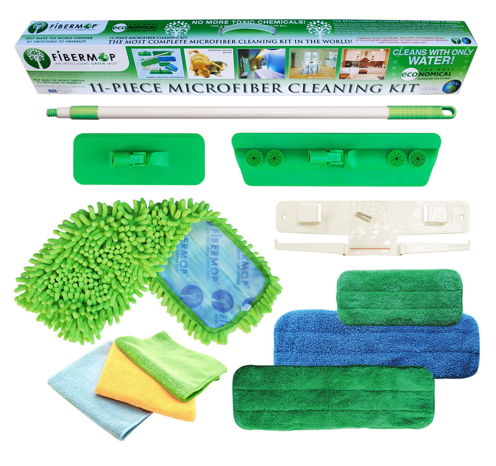 Fibermop® 11 Piece Microfiber Cleaning Kit - DSD Brands