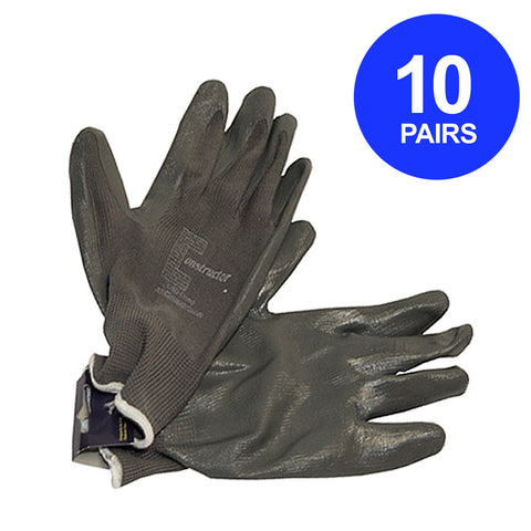 Constructor® Nitrile Coated 13 Gauge Gloves. 10 Pairs. - DSD Brands