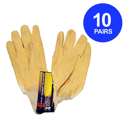 Constructor® Natural Latex Heavy Duty Gloves 90g. 10 Pairs. - DSD Brands