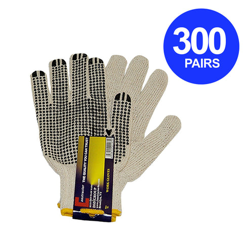 Constructor® 300 Pairs PVC Knitted Dotted Gloves - DSD Brands