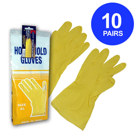 Constructor® Household Latex Gloves 10 Pairs - DSD Brands