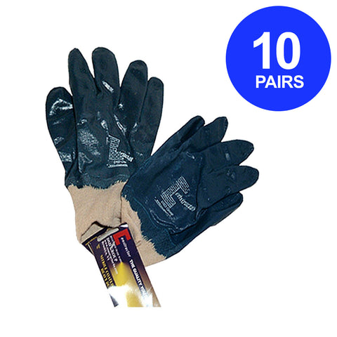 Constructor® Nitrile Coated Heavy Duty Gloves. 10 Pairs. - DSD Brands