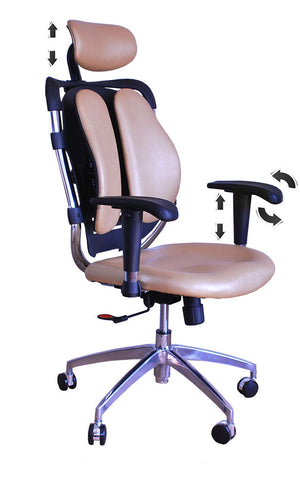Constructor Studio Tribeca Ergonomic Gold Chair With Adjustable Arms