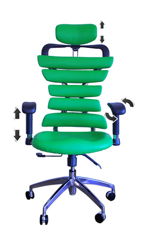 Constructor Studio Soho Ergonomic Green Chair With Adjustable Arms