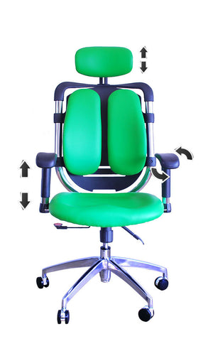 Constructor Studio Tribeca Ergonomic Green Chair With Adjustable Arms