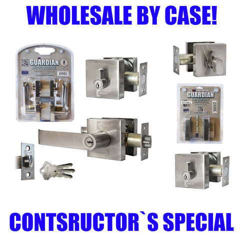 Constructor Entry Privacy Passage Dummy Nickel Handle Lock Set Knob Bed Bath - DSD Brands