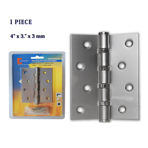 "CONSTRUCTOR Door Hinge Satin Nickel Ball Bearing 4"" x 3"" - DSD Brands"