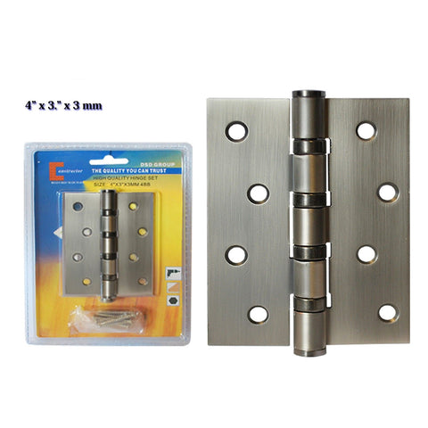 "CONSTRUCTOR Oil Satin Nickel Door Hinge 4"" x 3"" Ball Bearing - DSD Brands"