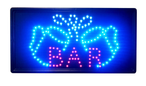 """Constructor"" Bar Sign 10""x19"" animated LED Neon Light, 2 On/Off Switches + Chain - DSD Brands"