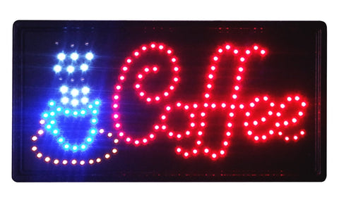 """Constructor"" Coffee  19"" x 10"" animated LED Neon Light Sign with On/Off Switch and Chain - DSD Brands"