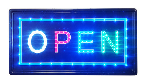 """Constructor"" Open Sign, 10""x19"" animated Motion LED Neon Light , On/Off and 2 Way Animation Switch + Chain. OPS05 - DSD Brands"
