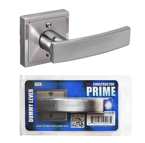 """Prime"" Dummy Lever Door Lock Satin Nickel Finish Knob Handle Lockset - DSD Brands"