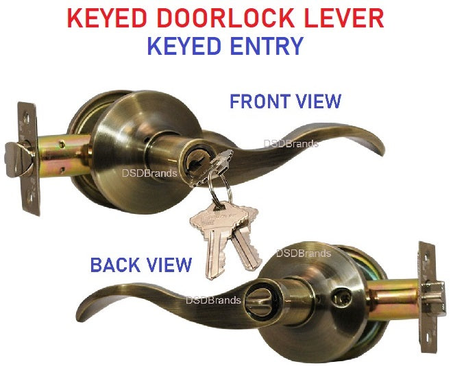 Constructor PRELUDE Entry Door Lever Handle Lockset Antique Bronze Finish