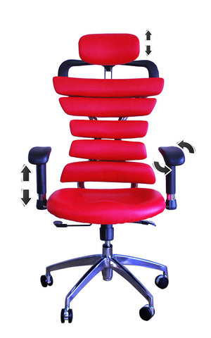 Constructor Studio Soho Ergonomic Red Chair With Adjustable Arms