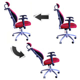 Constructor Studio Tribeca Ergonomic Red Chair With Adjustable Arms