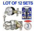 Wholesale Door Lock Sets Handle Knob Entry Passage Privacy Satin Nickel Locks