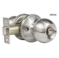 """Chronos"" Privacy Stainless Steel Finish, Door Lever Lock Set Knob Handle Set - DSD Brands"