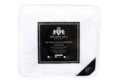 """Triumph Hill"" Silk Medium Weight Bed Comforter Queen - DSD Brands"