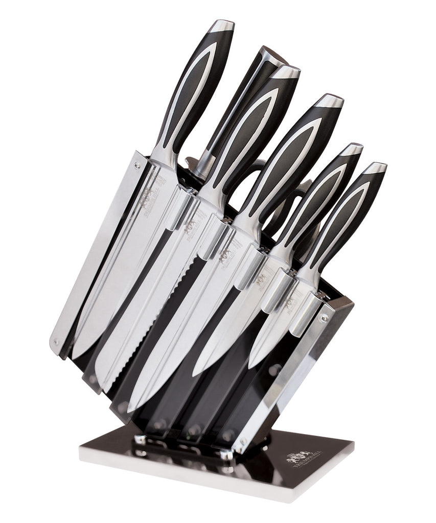9 PC ELITE CUTLERY KNIFE SET WITH KNIFE STAND & MAGNETIC BAR - DSD Brands
