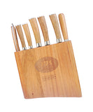 9 PC SUPREME CUTLERY KNIFE SET WITH GENUINE ACACIA KNIFE BLOCK  & MAGNETIC BAR - DSD Brands