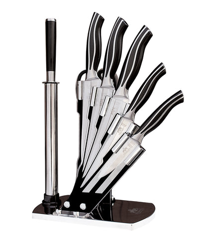 9 PC DELUXE CUTLERY KNIFE SET WITH KNIFE STAND & MAGNETIC BAR - DSD Brands