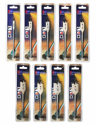 Constructor® Flat Wood Bit Set of 9 - DSD Brands