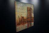 Modern Metal Art Wall Sculpture Home Decor Brooklyn Bridge