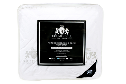 """Triumph Hill"" Feather and Down Bed Comforter Queen - DSD Brands"