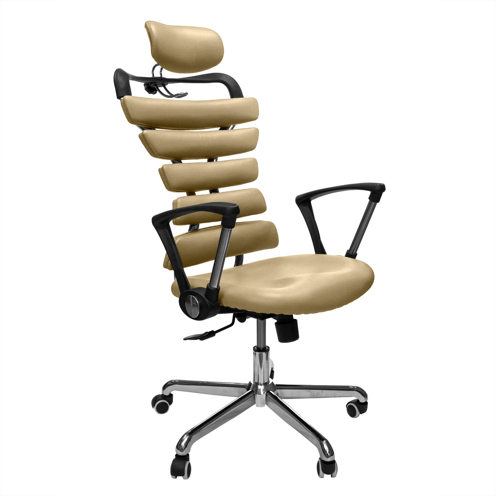 Constructor Studio Soho Ergonomic Gold Chair With Fixed Arms