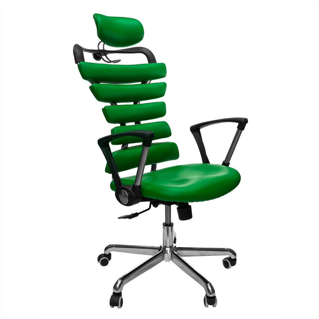 Constructor Studio Soho Ergonomic Green Chair With Fixed Arms
