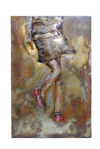 Modern Metal Art Wall Sculpture Home Decor Girl - DSD Brands