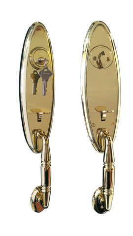 Constructor LEX Entry Handle Set Door Lock Polished Brass Finish