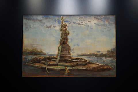 Modern Metal Art Wall Sculpture Home Decor Statue Of Liberty