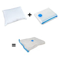 Creative Living Solutions Feather and Down Bed Pillow King Size