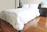 """Triumph Hill"" White Goose Feather and Down Comforter with 2 Pillows Deluxe Set - DSD Brands"