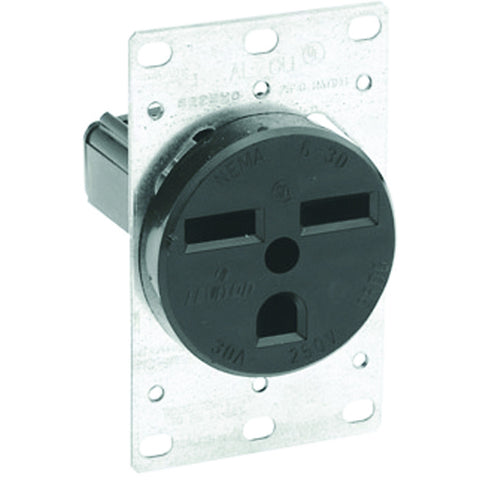 Commercial Grade Single Receptacle 250 Volt Brown