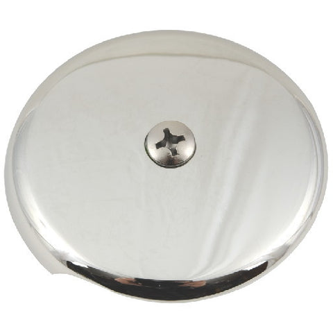 "1-Hole Bathtub Faceplate, 1/2"", Brushed Nickel"