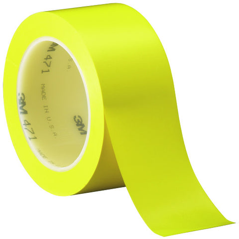"471 Vinyl Tape, 2"" X 36 Yd., Yellow"