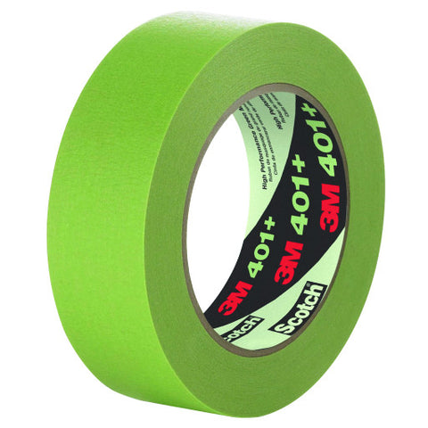 "Masking Tape, High Performance, 401+, .94"" W X 60 Yd., Green"